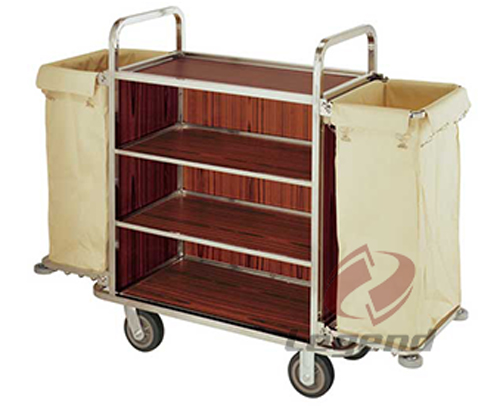 Hot sale stainless steel hotel cleaning trolley.jpg