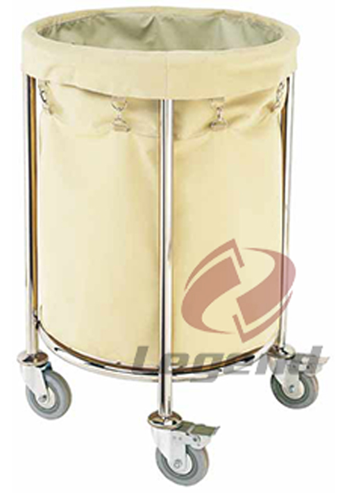 Hotel Cleaning Service Stainless Linen Trolley.jpg
