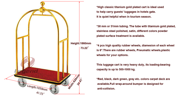 Flexible lightweight used hotel baggage trolley.jpg