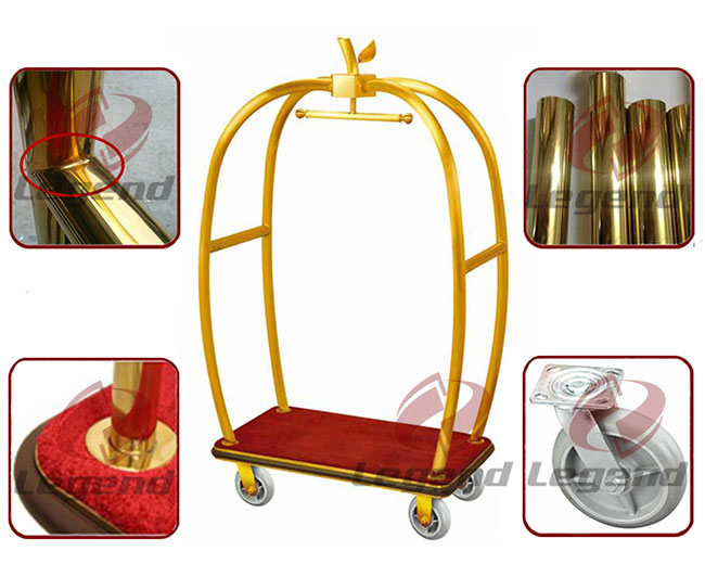 Factory directly supplied apple shape trolley for hotel.jpg