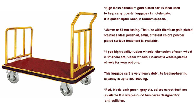 Hot selling Luggage heavy duty hand cart for hotel.jpg