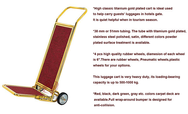 Foldable Luggage trolley storage cart for hotel.jpg