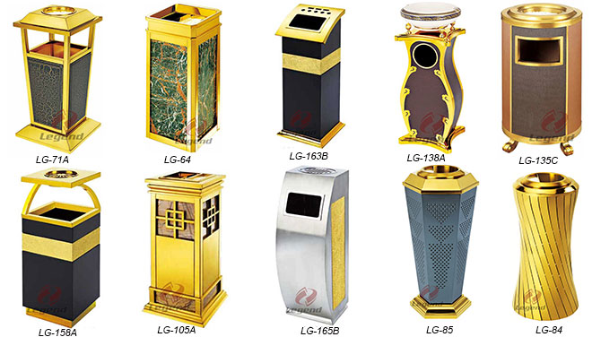 Modern spaces recycling bins station metal litter bin.jpg