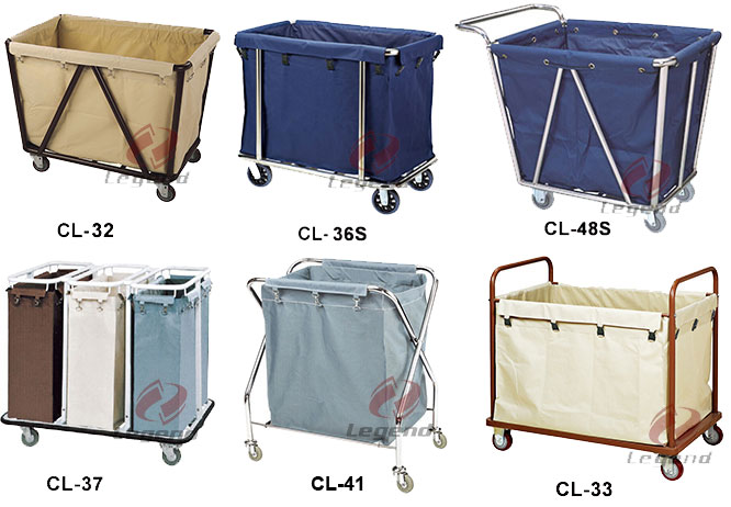 Hotel maid trolley commercial linen cart maid carts.jpg