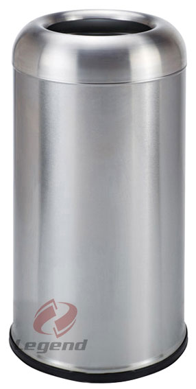 Modern new design stainless steel litter bin with camber open.jpg
