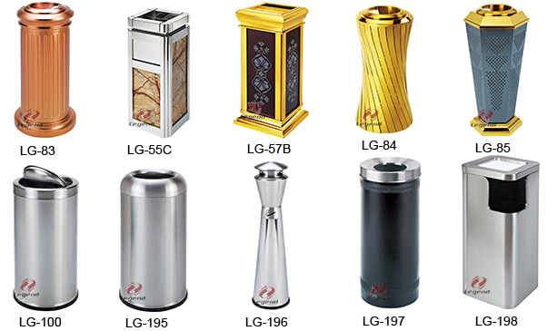 Hotel supplies standing ground ash barrel trash can for decoration.png