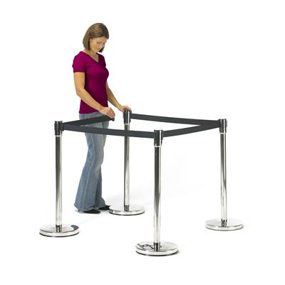 Security barrier retractable queue belt post.jpg