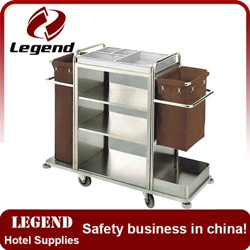 CE approved Stainless Steel hotel linen trolley