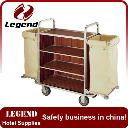 China supplier Hotel maid trolley for Europe