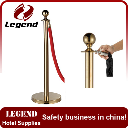 Crowd control barrier Queue pole Red braided Rope