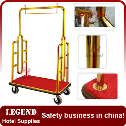 Customized hotel luggage cart for five star hotel