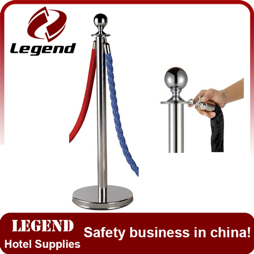 Customized stainless steel post with retractable belt