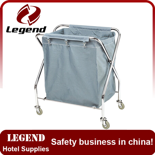 Durable and easy cleaning hotel laundry cart
