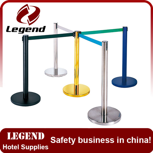 Exhibition museum barrier retractable railing stand