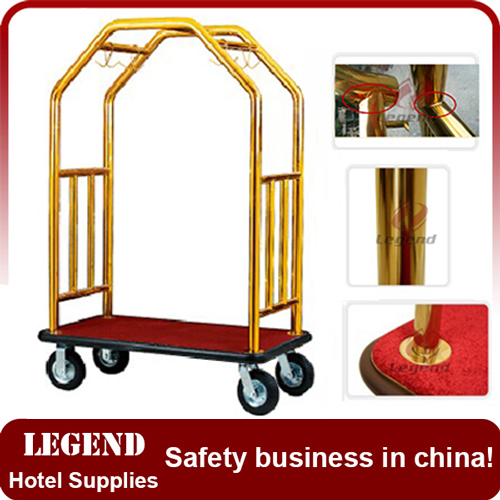 Factory directly supplied apple shape trolley for hotel
