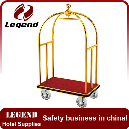 Flexible lightweight used hotel baggage trolley