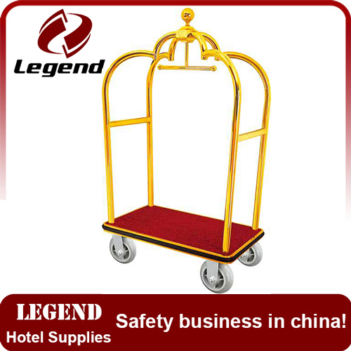 Flower shape hotel heavy duty luggage trolley