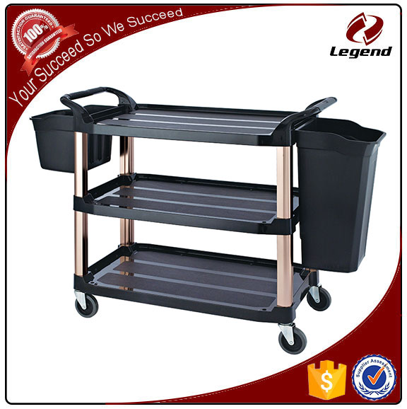 Heavy Duty hotel cleaning trolley plastic janitor cart