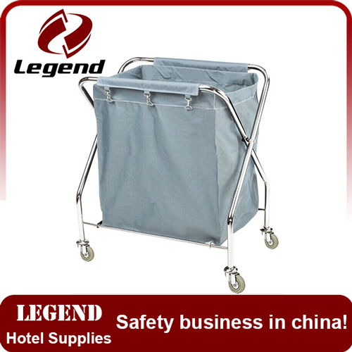 High Quality Canvas Bag laundry industry trolley