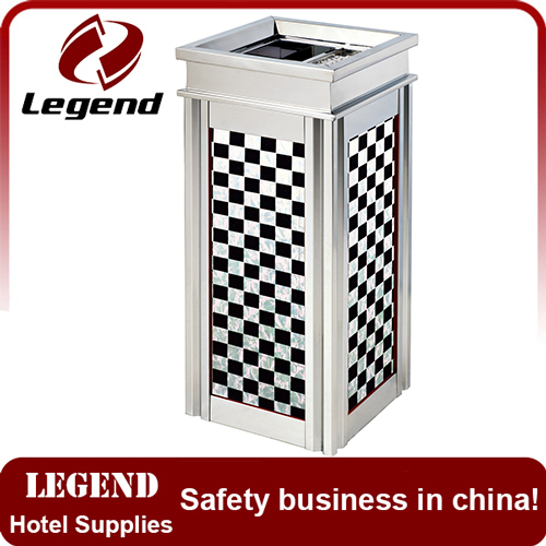 Hotel decoration accesories stainless dustbin