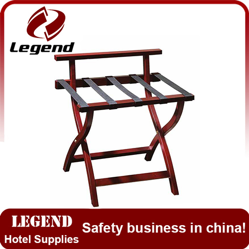 Hotel furniture wooden folding tray stand