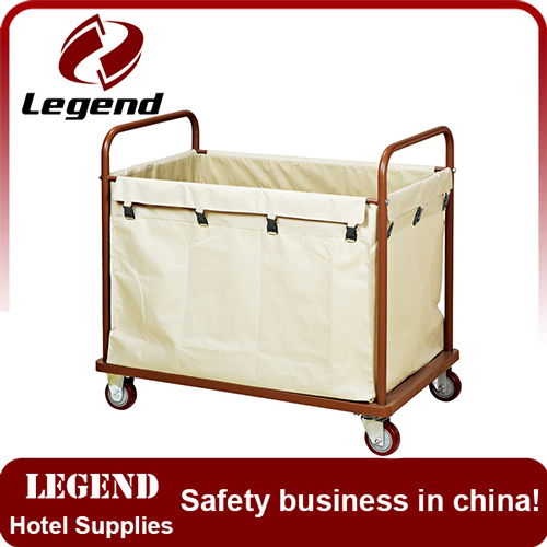 Hotel maid trolley commercial linen cart maid carts