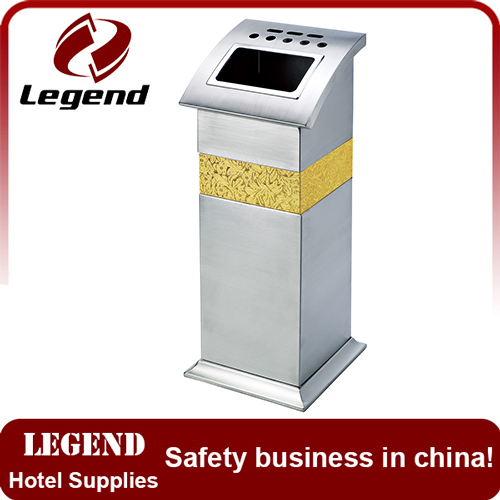 Hotel supplies standing ground ash barrel trash can for decoration