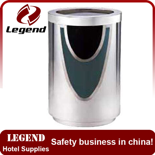 Modern new design stainless steel litter bin with camber open