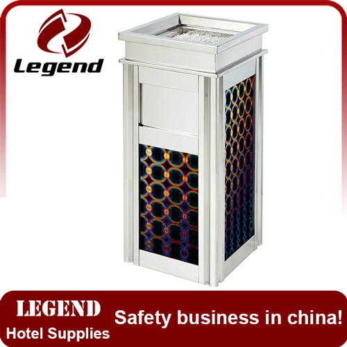 Modern spaces recycling bins station metal litter bin