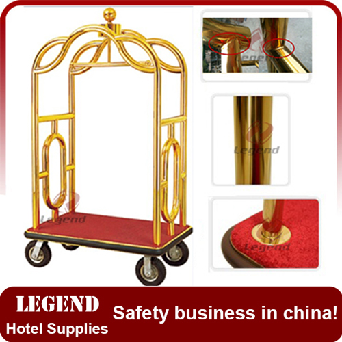 New Style Grand hotel bellman cart Luggage Trolley