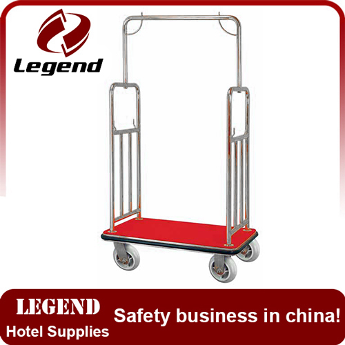 New design more competitive steel bellman cart for hotel
