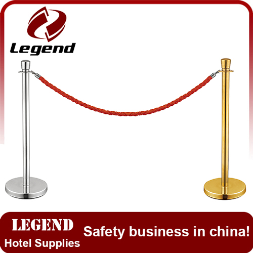 Roadway safety Warning velvet rope stanchion