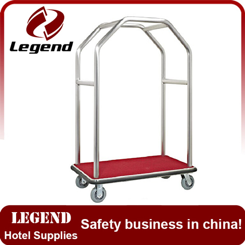 Stainless Steel hotel luggage trolley cart