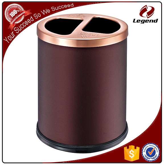 Sanitary segregated waste bin room recycling trash bins