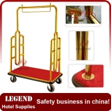 Heavy duty bellman hotel cart trolley