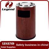 Hotel lobby red wooden painted color recycling dustbin