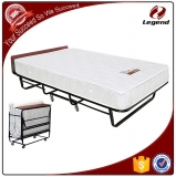 Portable white metel tube sleeper folding rollaway bed