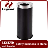 Public area ground metal dust bin with competitive price
